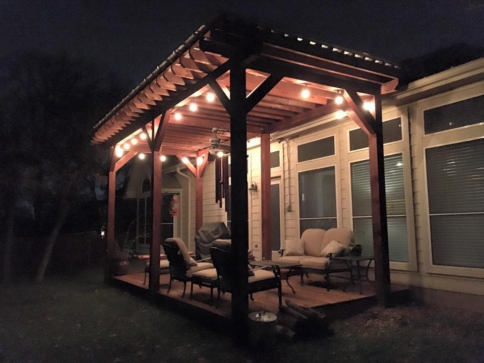 residential electrical on a patio in fort worth dallas