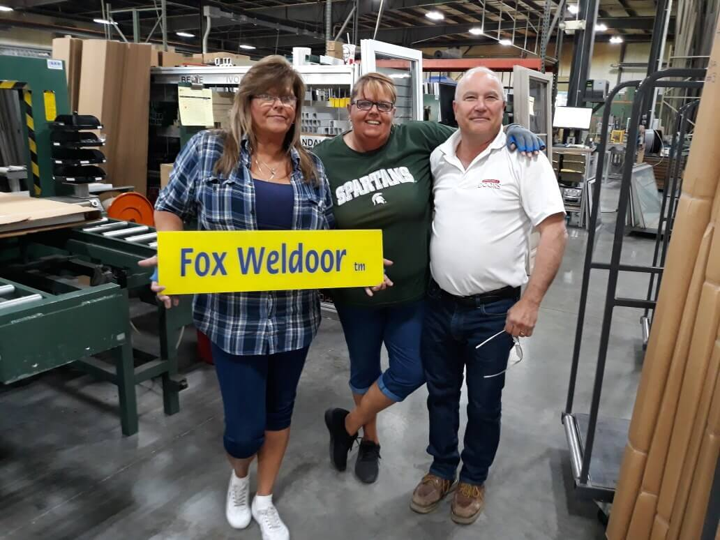 Fox Weldoor Daughters with Affordable Doors & More owner Peter Loukas