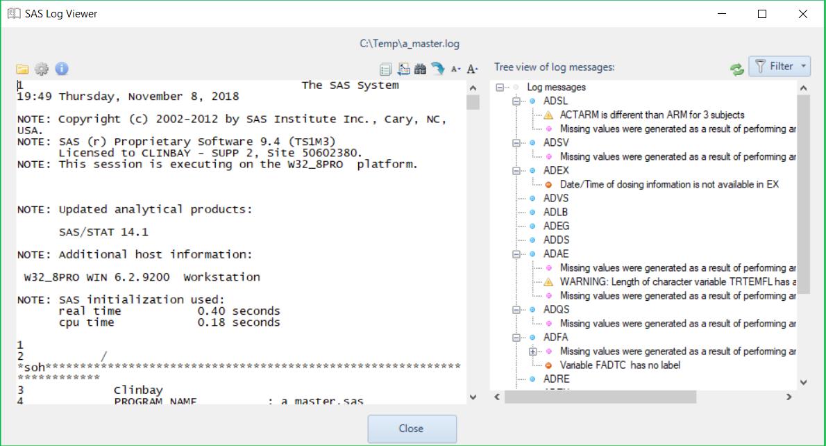ClinLogViewer: Free SAS Log Viewer
