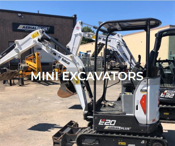 Mini excavator rentals and sales from Aerial Plus