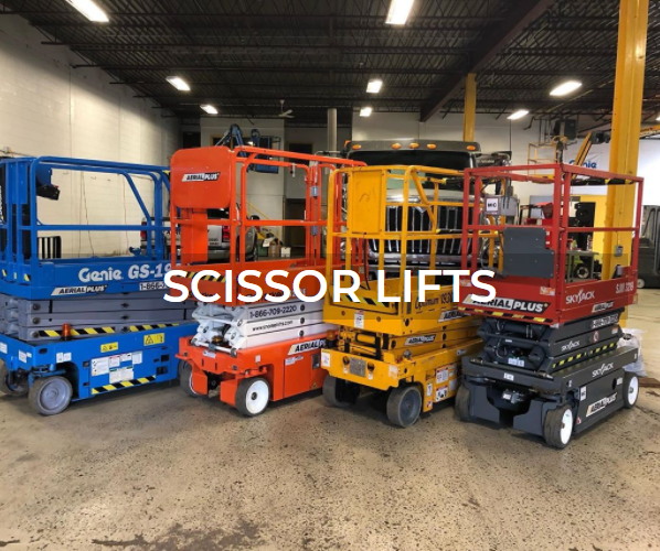 Scissor lift sales and rentals from Aerial Plus