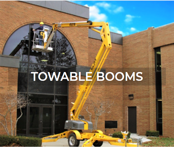 Towable boom rentals and sales from Aerial Plus