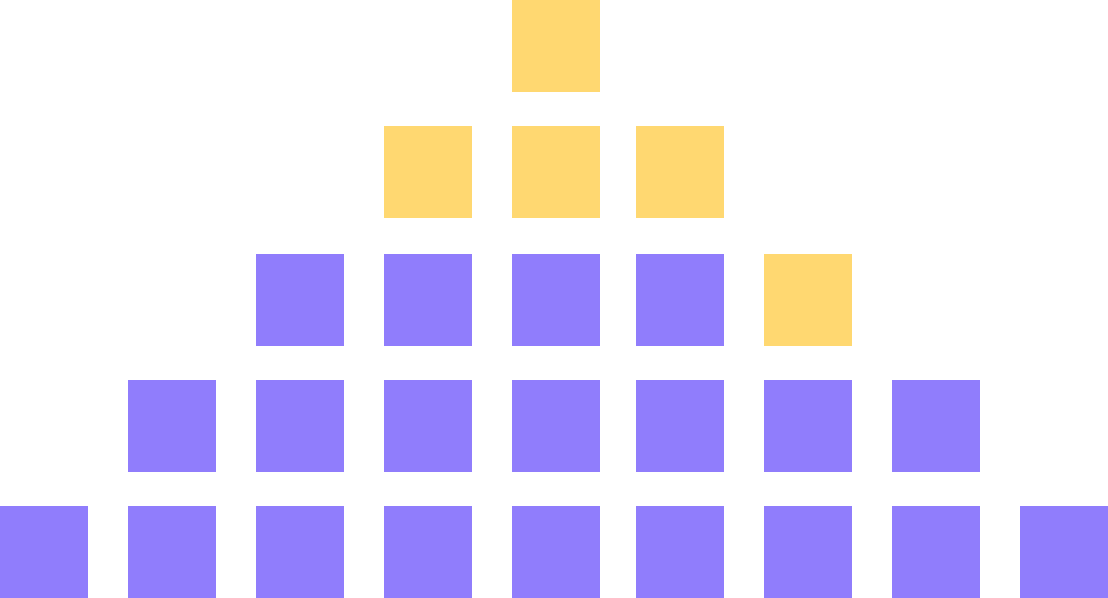 Pyramid of blocks