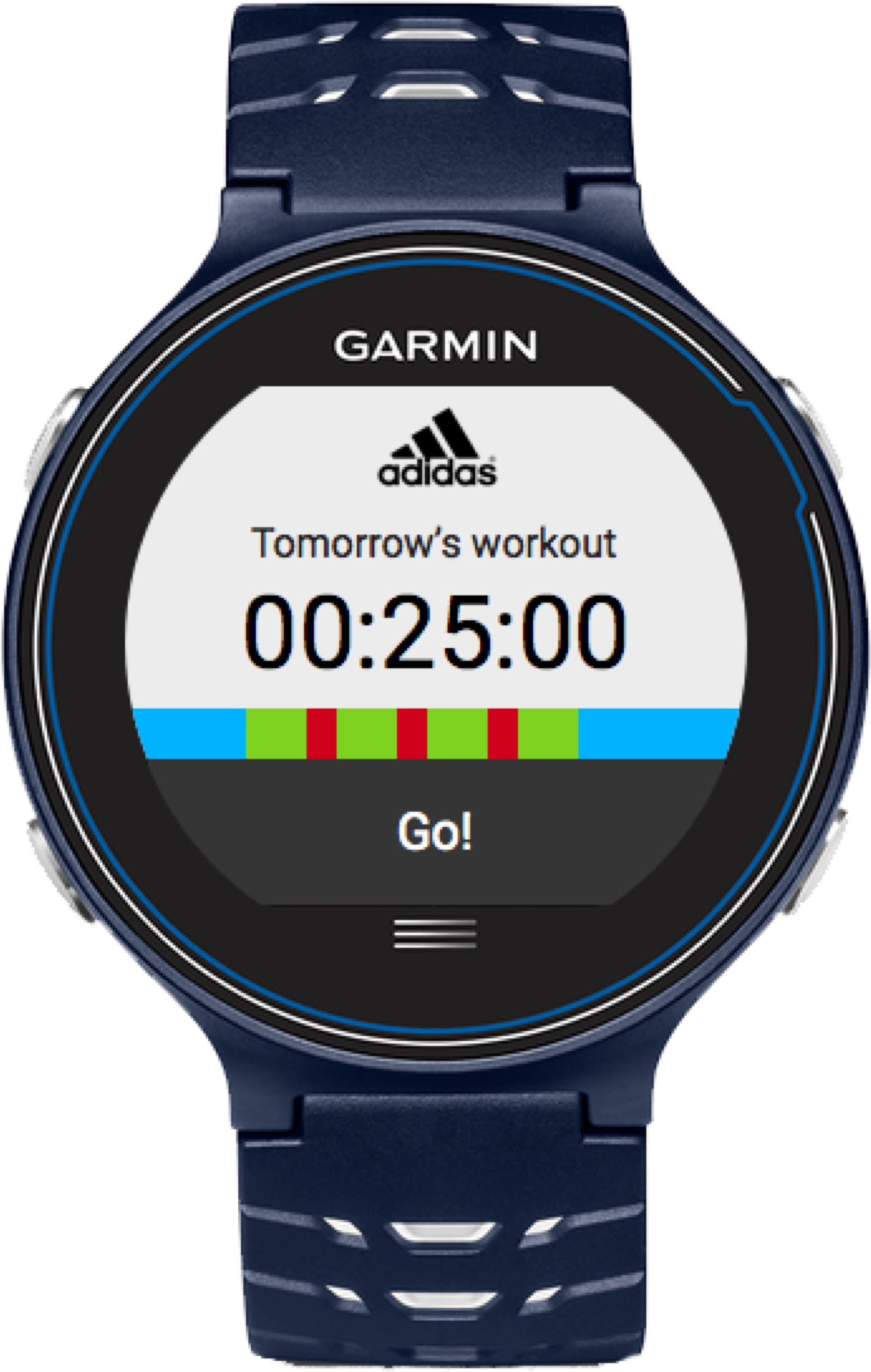 Watch with adidas app