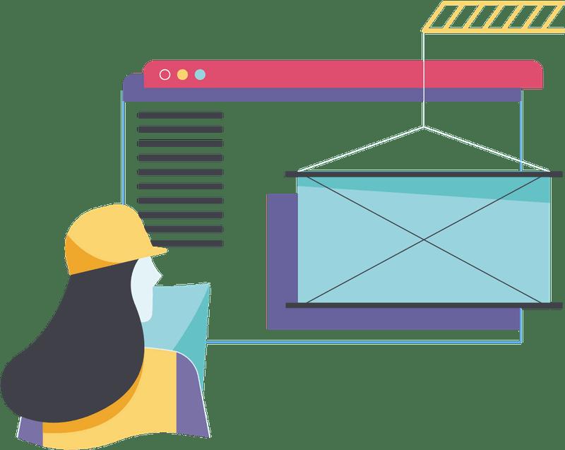 designer imagining website