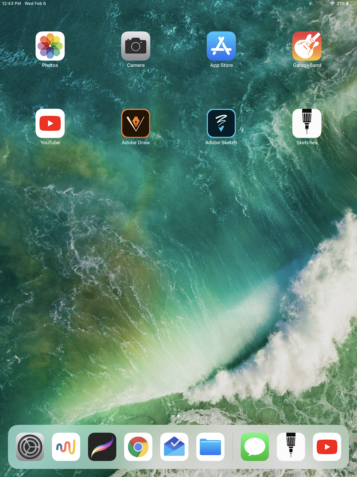 screenshot of ipad with apps