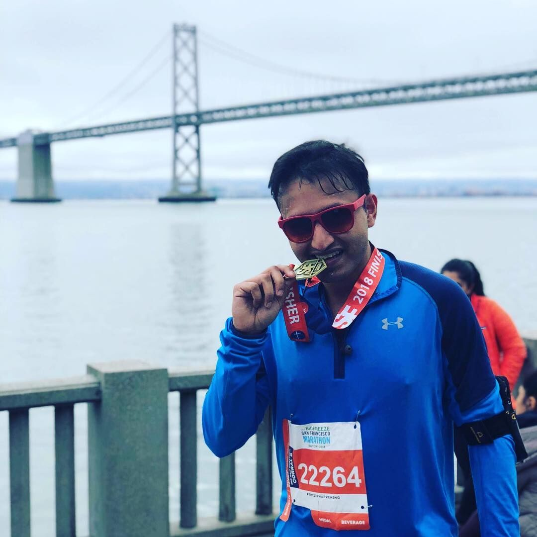 Vidhan went from inability to run to marathon with his fitness coach