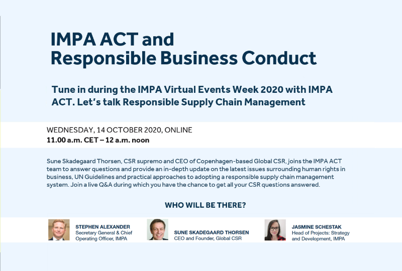 Join our Virtual Session on IMPA ACT and RSCM