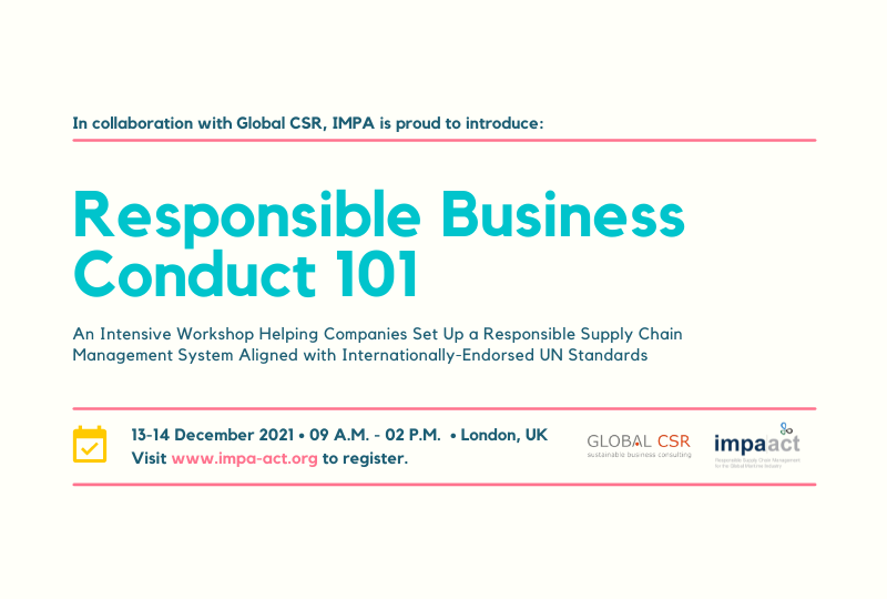 Join our two-day workshop on Responsible Business Conduct