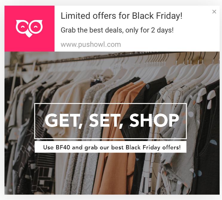Push notification ideas for black friday