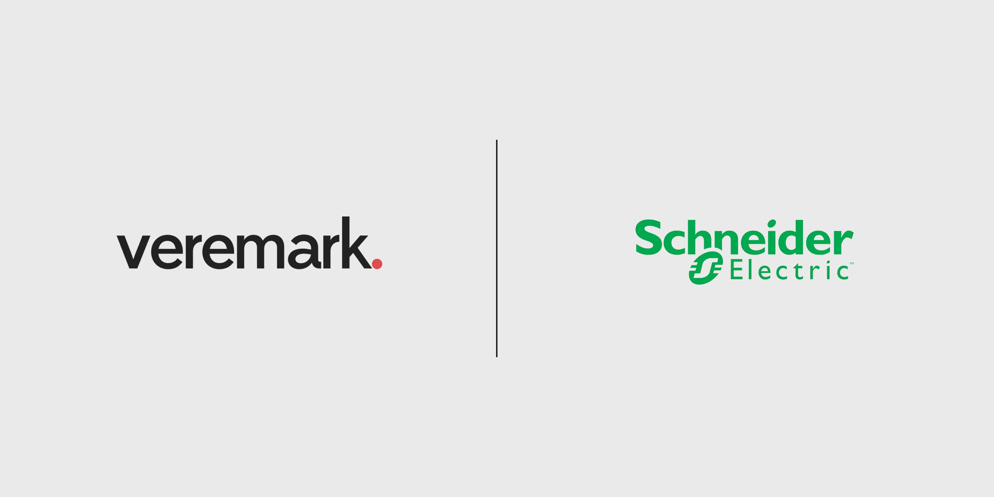 Veremark and Schneider Electric logos next to each other