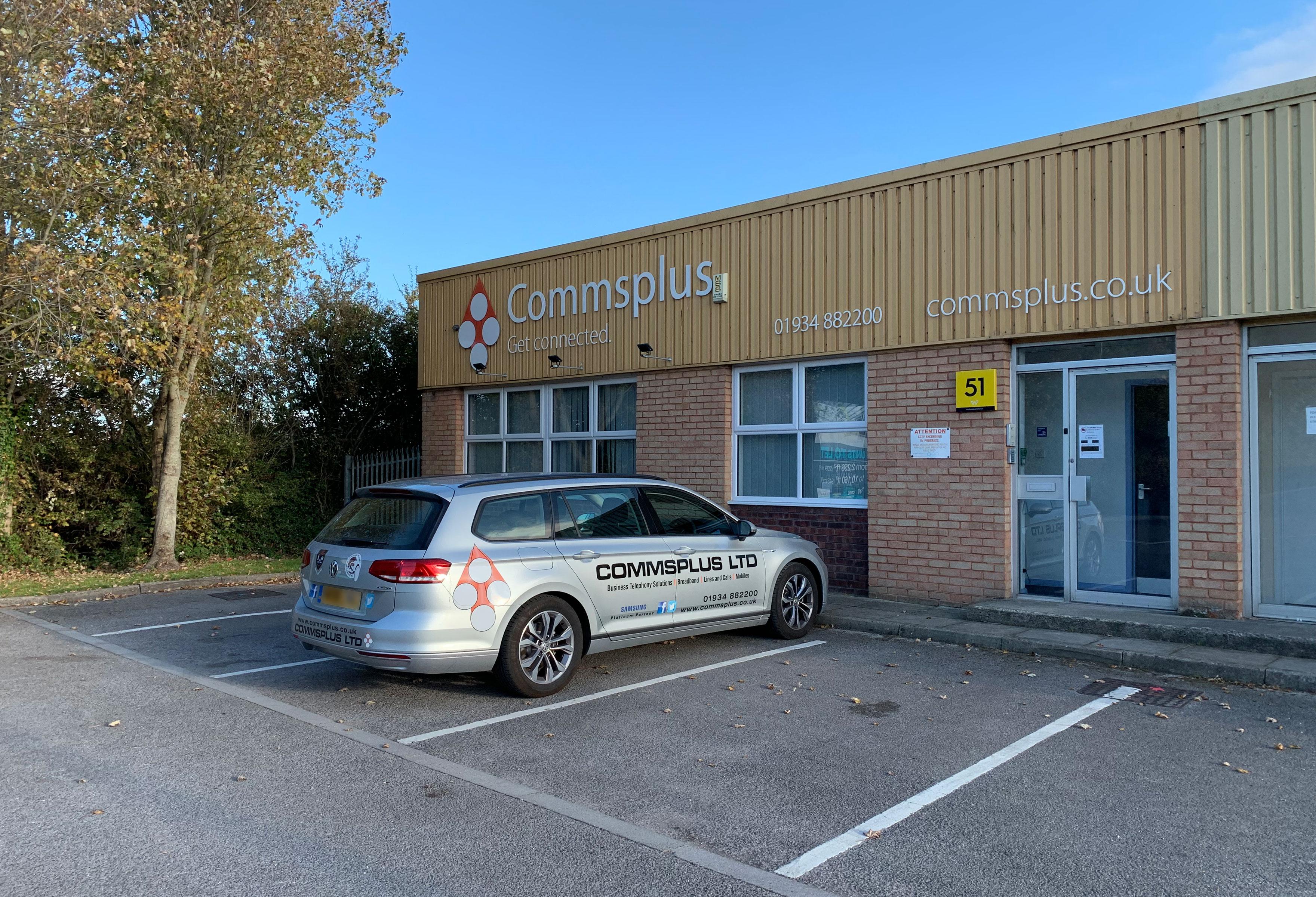 Commsplus office in Weston super Mare