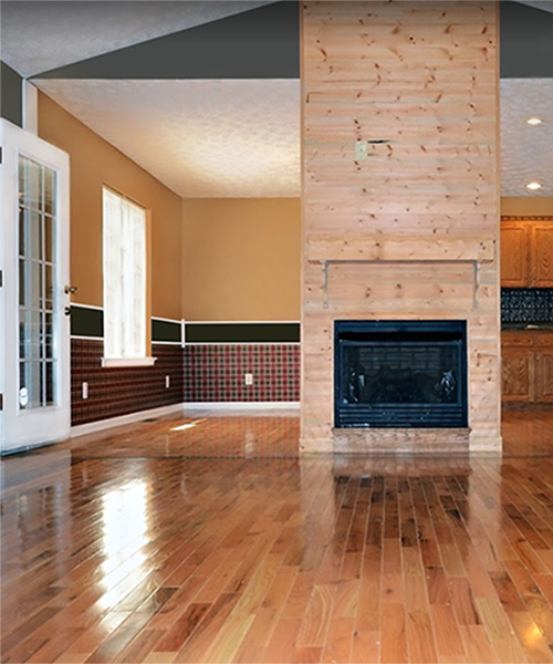 cleaned hardwood floors in a seattle home