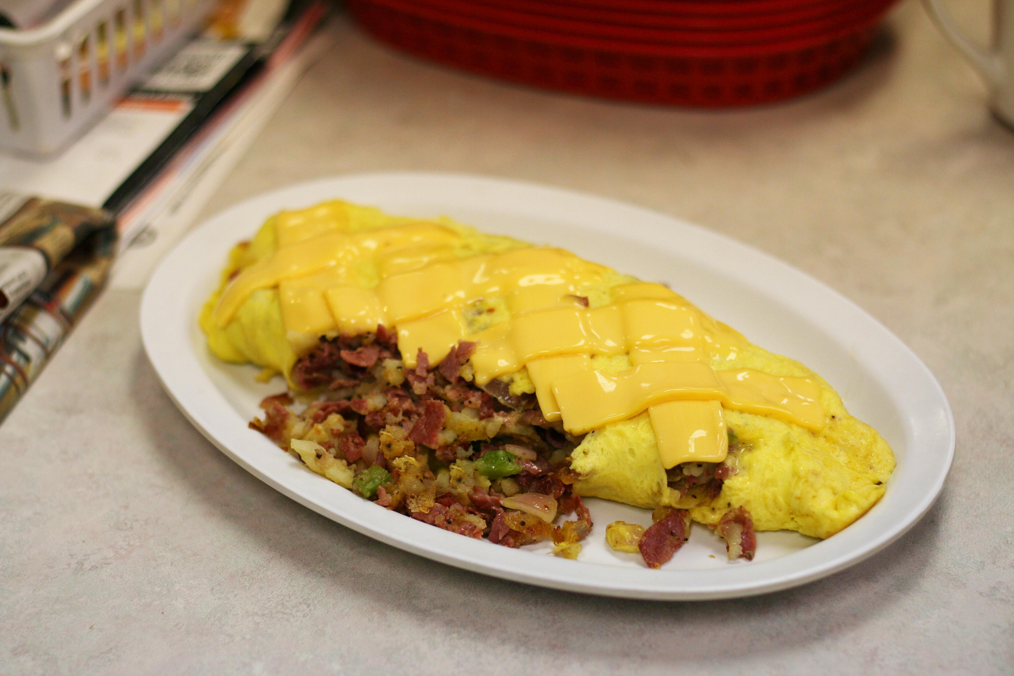 Corned Beef Hash Omelette