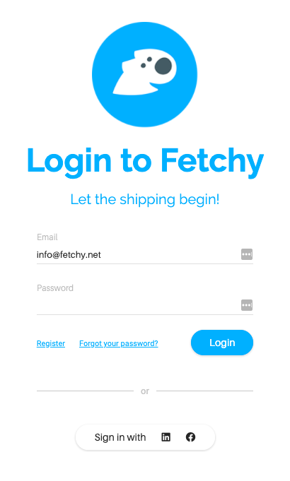 Fetchy Login