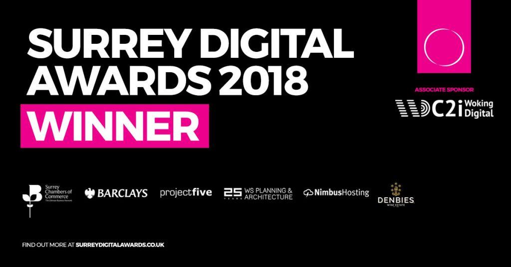 Surrey Digital Awards 2018 Winner