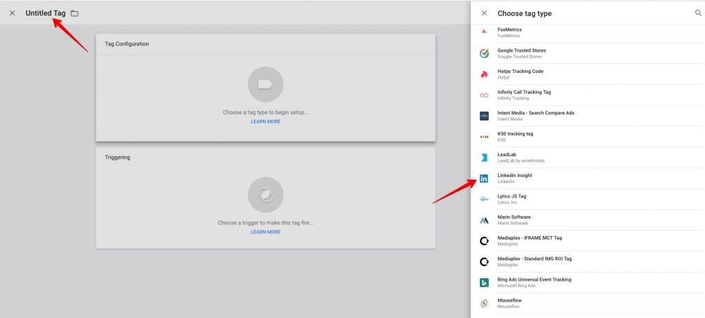 Google Tag Manager LinkedIn Insights