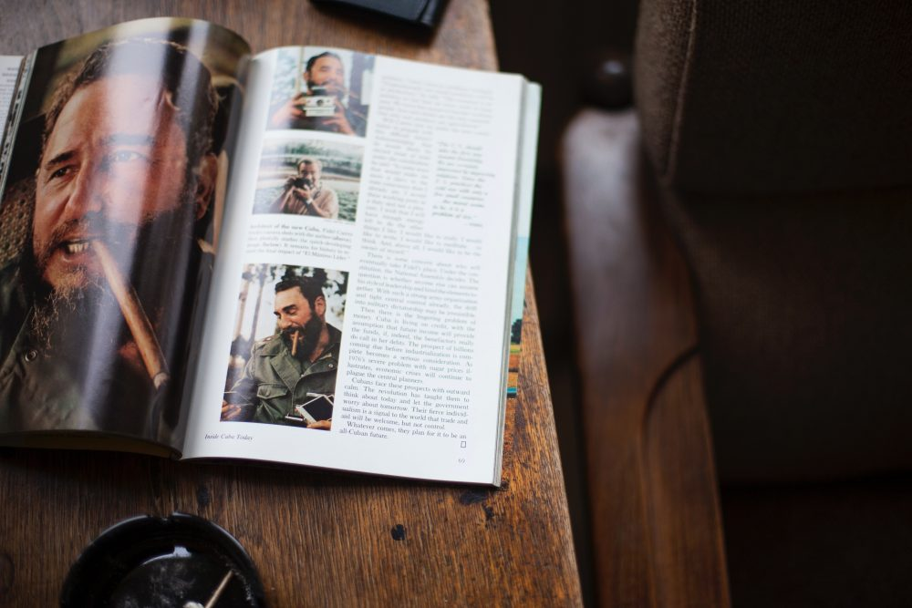 A Magazine on a coffee table