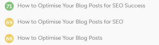 Optimising Blog Posts