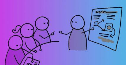 Cartoon depicting a lesson