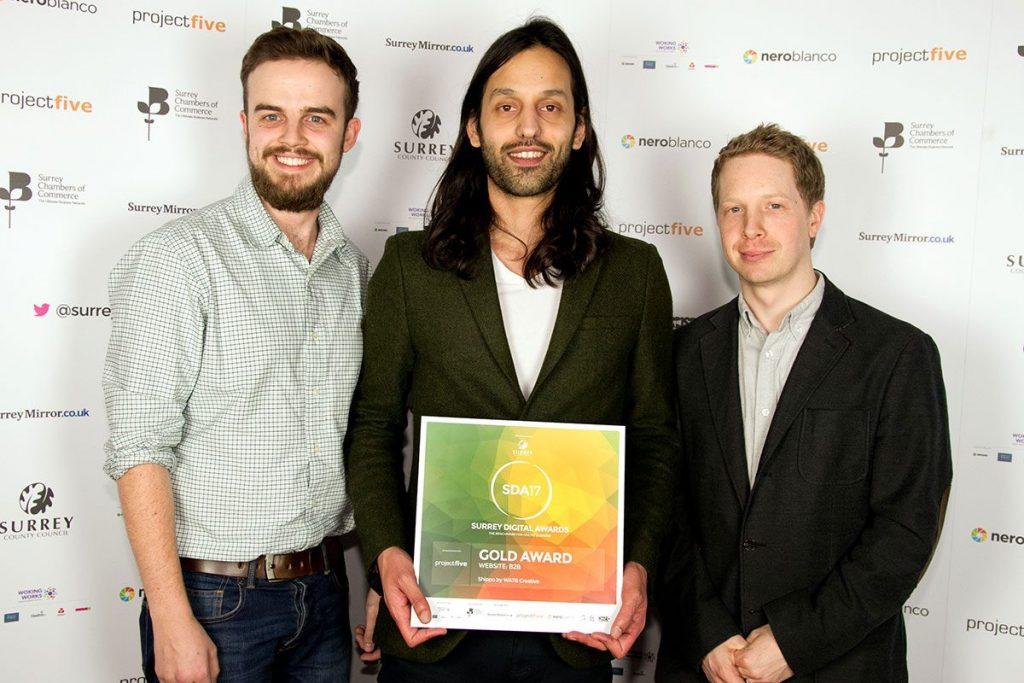 Watb winning Gold Award 2017