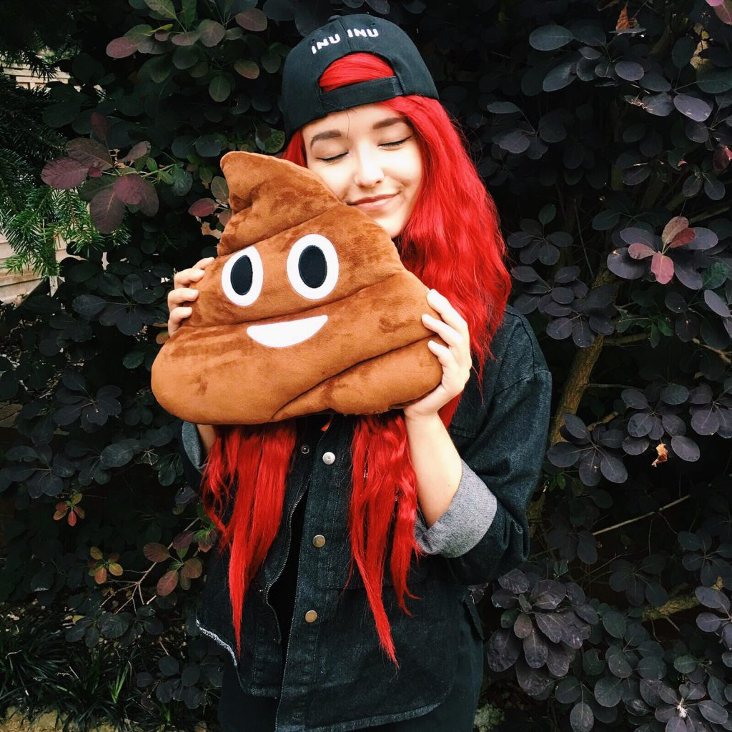 An Instagram Influencer with a Chickidee cushion