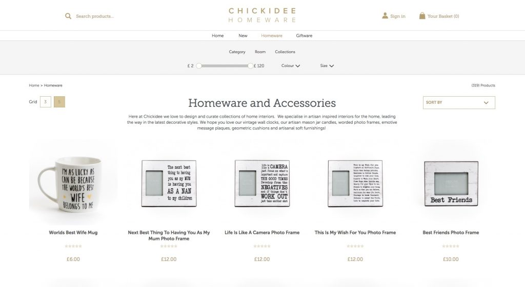 Website Ecommerce Page