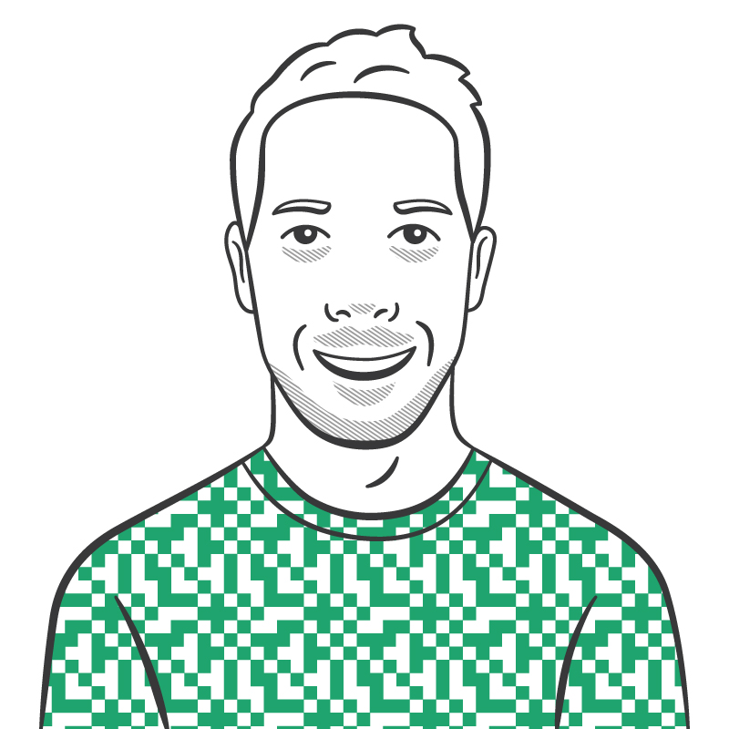 A caricature of Paul Mist