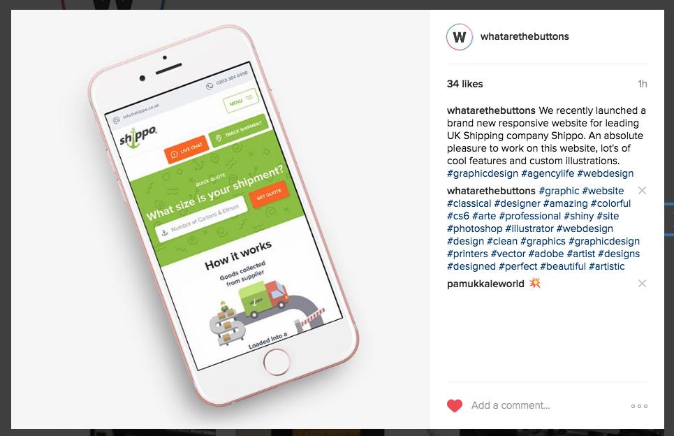 Watb Instagram example