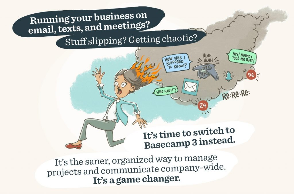 Illustration for Basecamp Advert