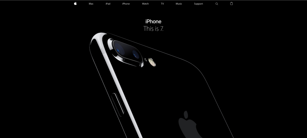 Advertising image of an iPhone 7