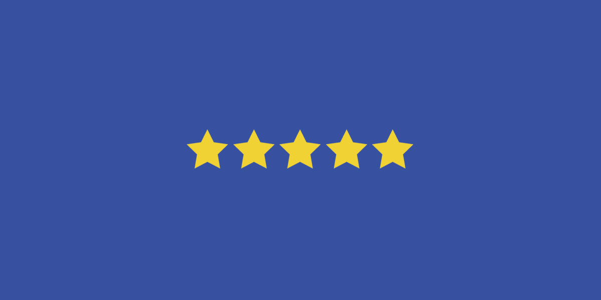 Five star rating from Facebook