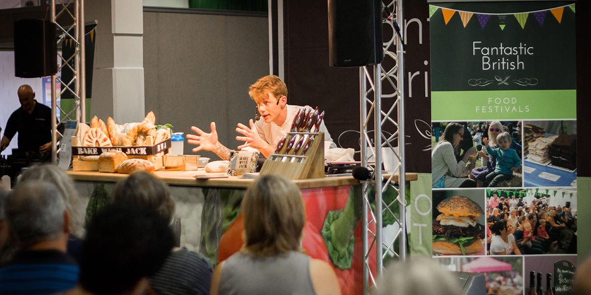 A cookery demonstration at one of the Fantastic Food Festivals