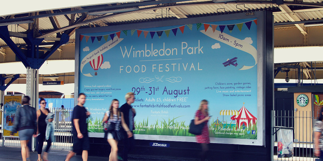 Food Festival Billboard in Wimbledon