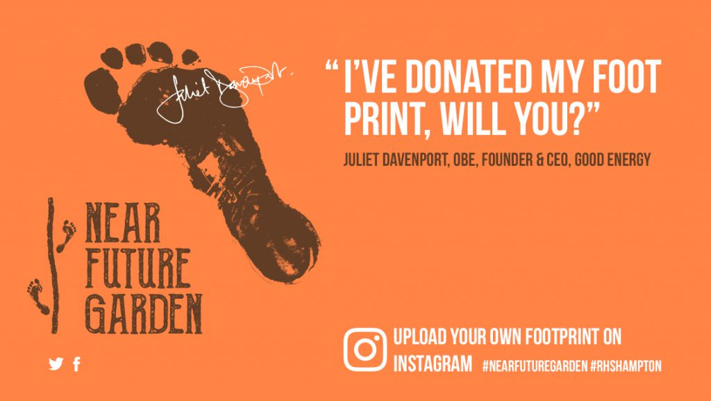 Juliet Davenport's footprint used in an Ad campaign to spread Climate change awareness