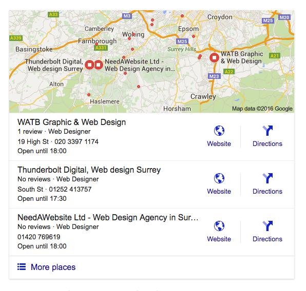 Watb Google Local Search