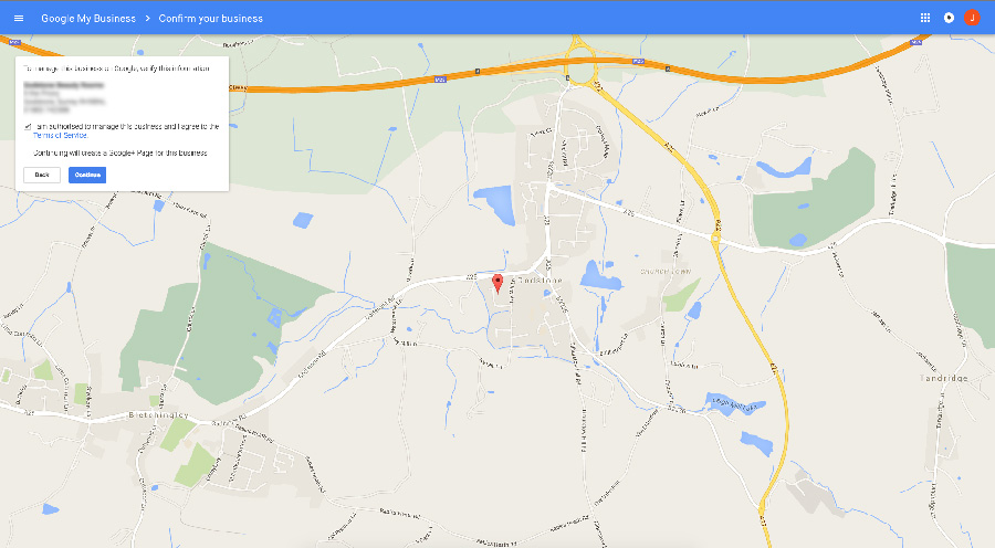 Google My Business Location
