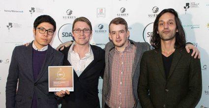 A Watb team photo at the Surrey Digital Awards 2016