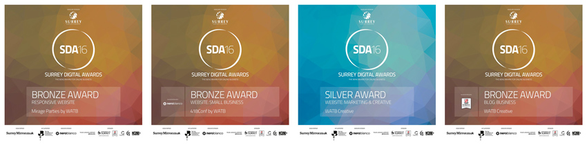 The 4 awards won by Watb at the SDA16 Awards ceremony