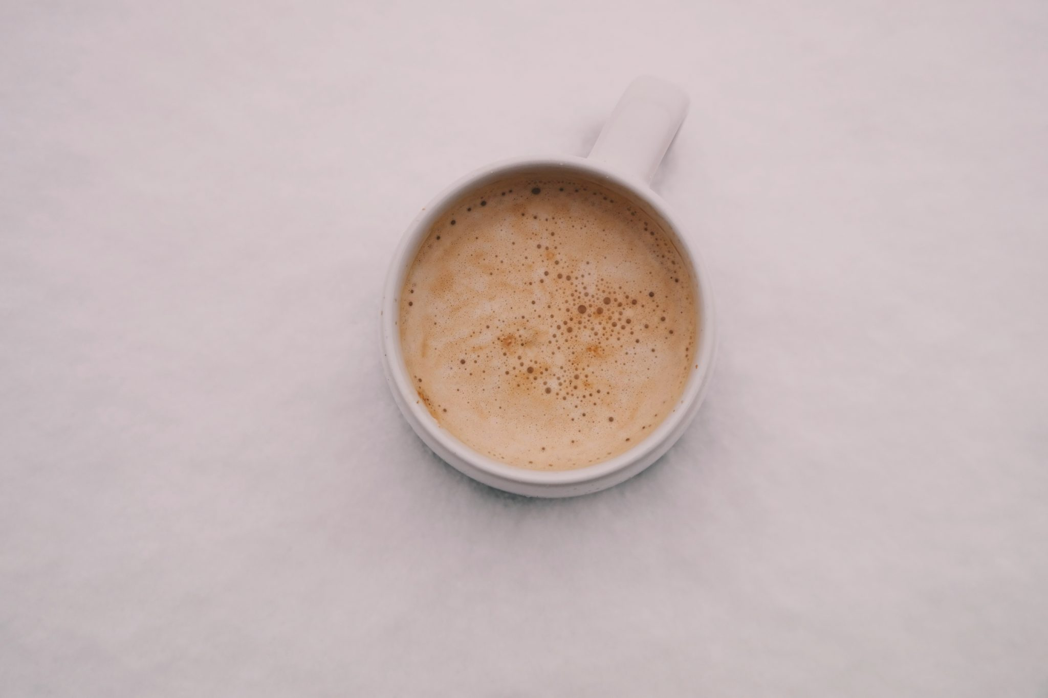 top down cup of Coffee