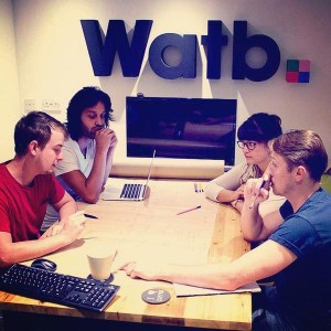 Some of the Watb Team in a meeting