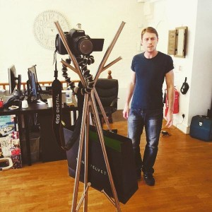 Watb Coat Stand with Camera mounted on it