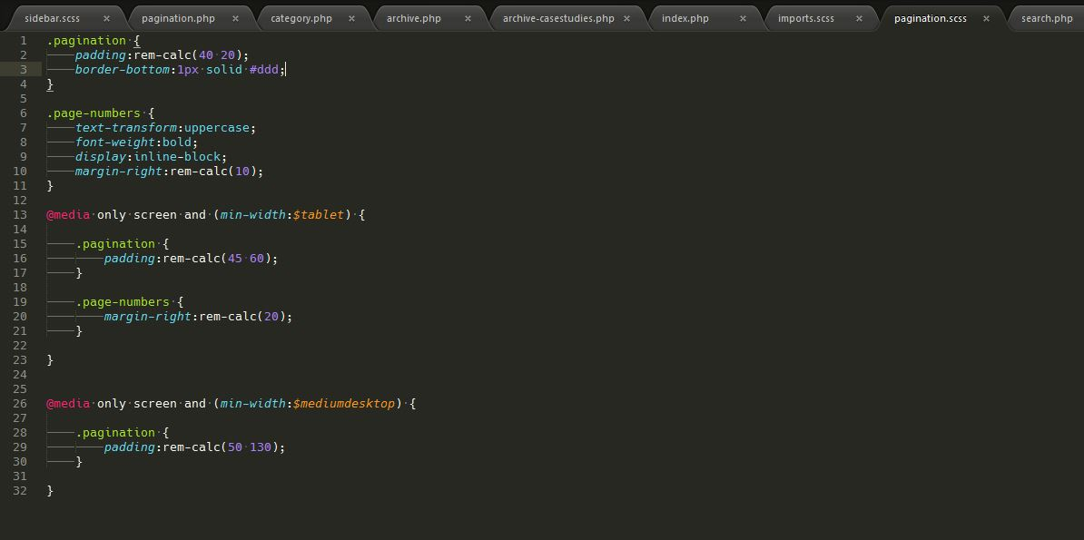 Lines of CSS code