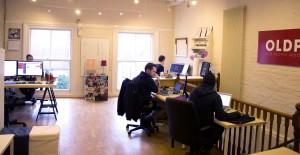 People woking at the Watb office