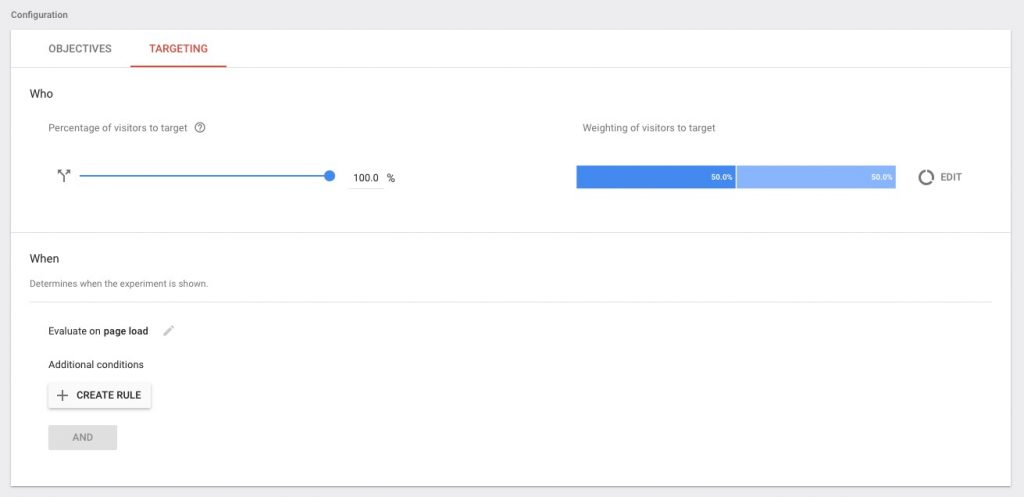 Google Optimize Targeting