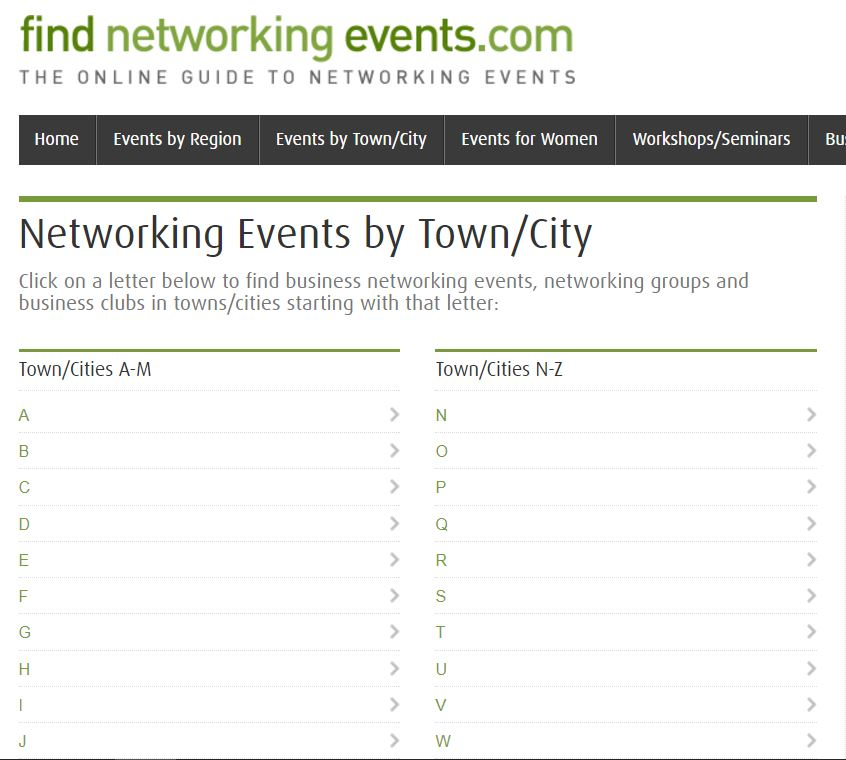 networking events screenshot