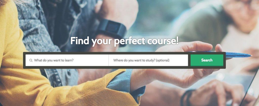 Screenshot of hotcourses.com