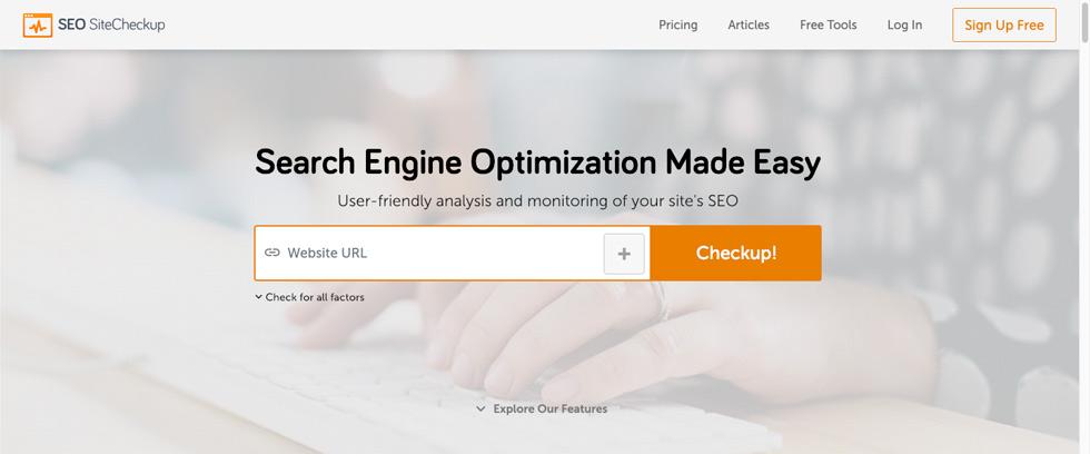 screenshot of SEO Site Checkup