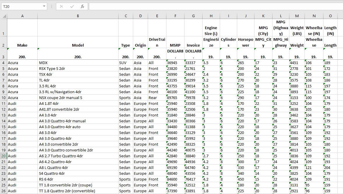 Export & View Data in Excel