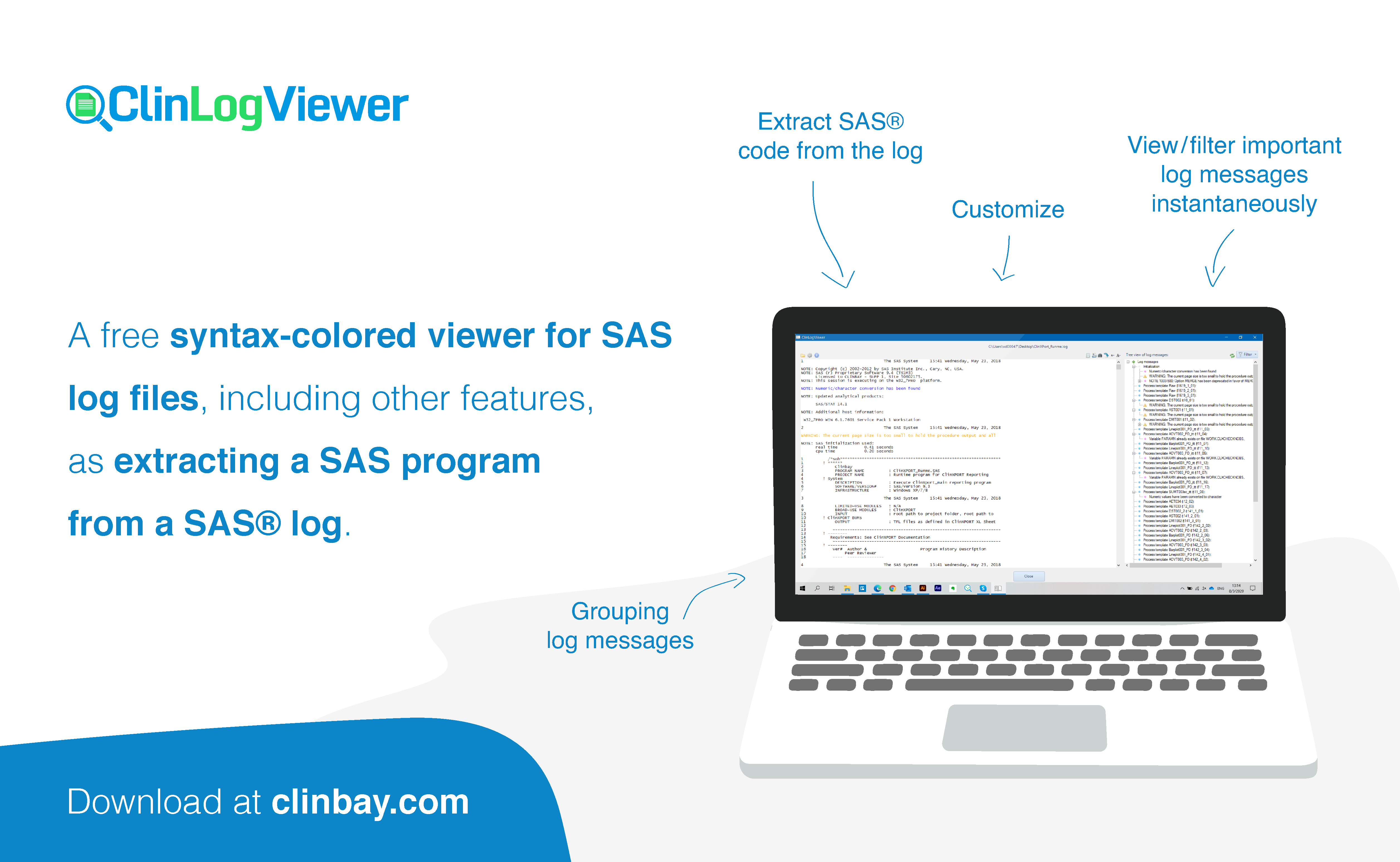 Save time with our free SAS log viewer!
